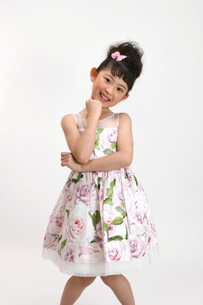 rose print dress2
