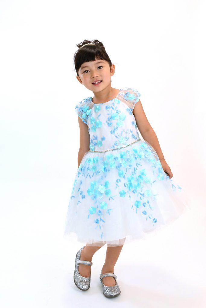 blue flower dress